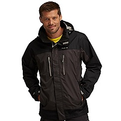 Regatta - Ash / black calderdale waterproof jacket