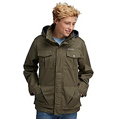 Regatta - Khaki green hightime waterproof jacket