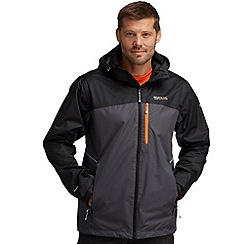 Regatta - Grey/black sanford waterproof jacket
