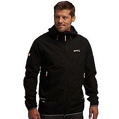 Regatta - Black evitts waterproof jacket