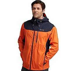Regatta - Orange/ navy outflow waterproof jacket