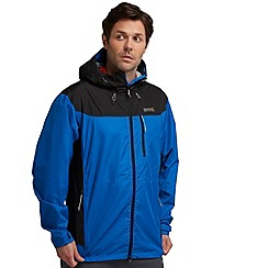 Regatta - Blue/ black outflow waterproof jacket