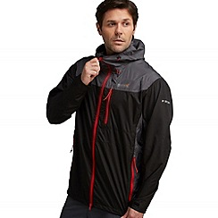 Regatta - Black/grey outflow waterproof jacket