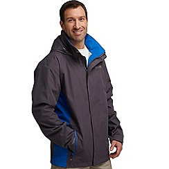 Regatta - Dark grey/ blue matt waterproof jacket