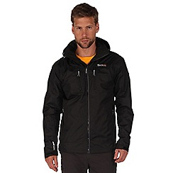 Regatta - Black calderdale waterproof jacket