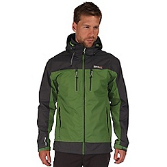 Regatta - Green/grey calderdale waterproof jacket
