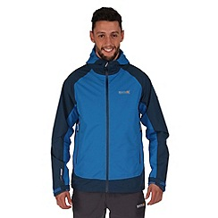 Regatta - Blue semita waterproof hooded jacket