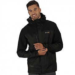 Regatta - Black cross penine hybrid waterproof jacket