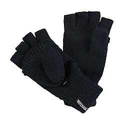 Regatta - Black Fingerless knitted gloves