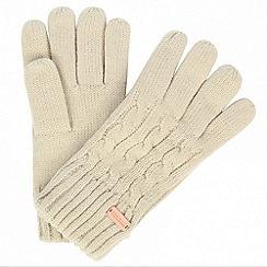 Regatta - Cream 'Multimix' knit gloves