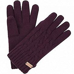 Regatta - Purple 'Multimix' knit gloves