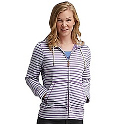 Regatta - Purple heart sea dream hooded zip through sweater