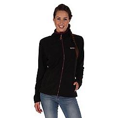 Regatta - Black/purple clemance zip through fleece