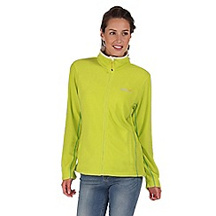 Regatta - Lime clemance zip through fleece
