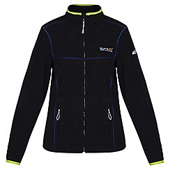 Regatta - Black/ lime floreo fleece