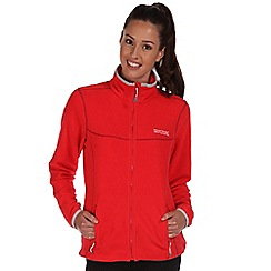 Regatta - Coral blush floreo sporty zip through fleece