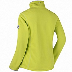 Regatta - Lime floreo sporty zip through fleece