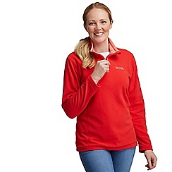 Regatta - Red sweetie half zip fleece