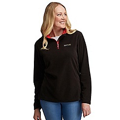 Regatta - Black sweetie half zip fleece