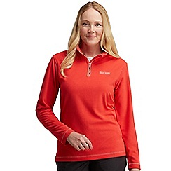 Regatta - Red lifetime half zip fleece