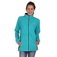 Regatta - Aqua blue cathie zip through fleece