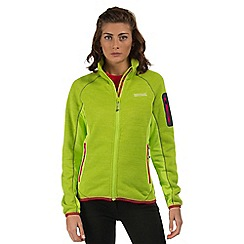 Regatta - Lime green Laney zip through fleece