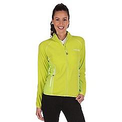 Regatta - Lime green jomor lightweight fleece jacket