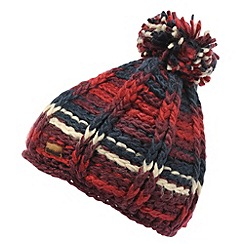 Regatta - Dark burgundy womens knitted viktoria hat