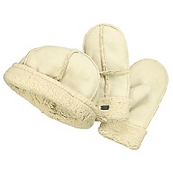 Regatta - Beige / vanilla cozy hat & mitts set