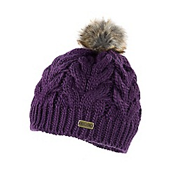 Regatta - Purple Cuddle bobble hat