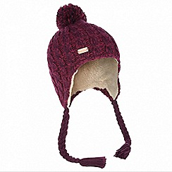 Regatta - Purple 'Whirlwind' fleece hat