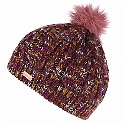 Regatta - Purple 'Frosty' pom pom hat