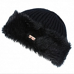 Regatta - Black 'Ludz' faux fur trim hat