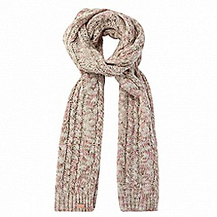 Regatta - Cream 'Frosty' knit scarf