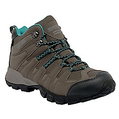 Regatta - Walnut/aqua lady garsdale mid casual walking boot