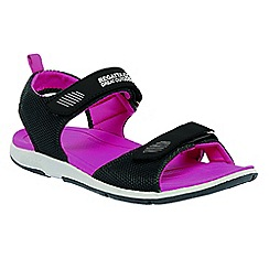 Regatta - Black/pink lady terrarock casual walking sandal