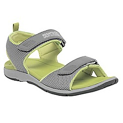 Regatta - Ash/lime lady terrarock casual walking sandal