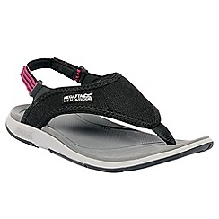 Regatta - Black/pink lady trailrider sport sandal