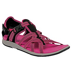 Regatta - Black/pink lady supa-swift casual sandal