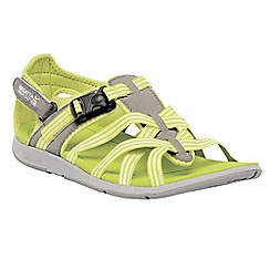 Regatta - Lime/grey lady supa-swift casual sandal