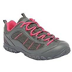 Regatta - Grey/sorbet pink lady peakland casual walking shoe