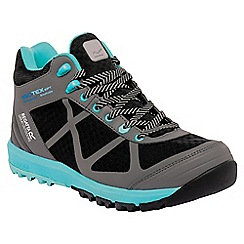 Regatta - Black/bahama blue lady hyper-trek mid trail boot