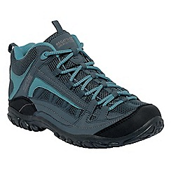 Regatta - Slate/blue lady edgepoint mid casual walking boot