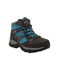 Regatta - Grey / blue frontier ladies mid walking boot