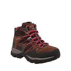 Regatta - Brown/red frontier ladies mid walking boot