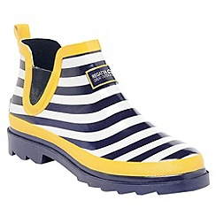 Regatta - Navy/lemon lady harper welly
