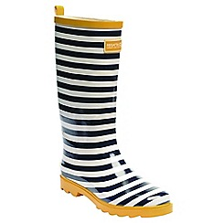 Regatta - Navy stripe lady fairweather wellington boots