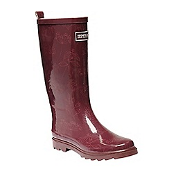 Regatta - Red 'lady fairweather' wellington boot