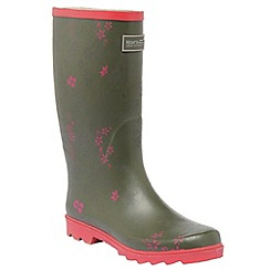 Regatta - Olive/pink lady fairweather welly