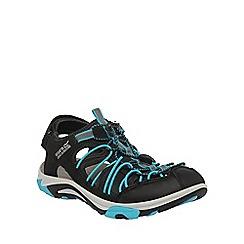 Regatta - Black/blue lady trellis active sandal
